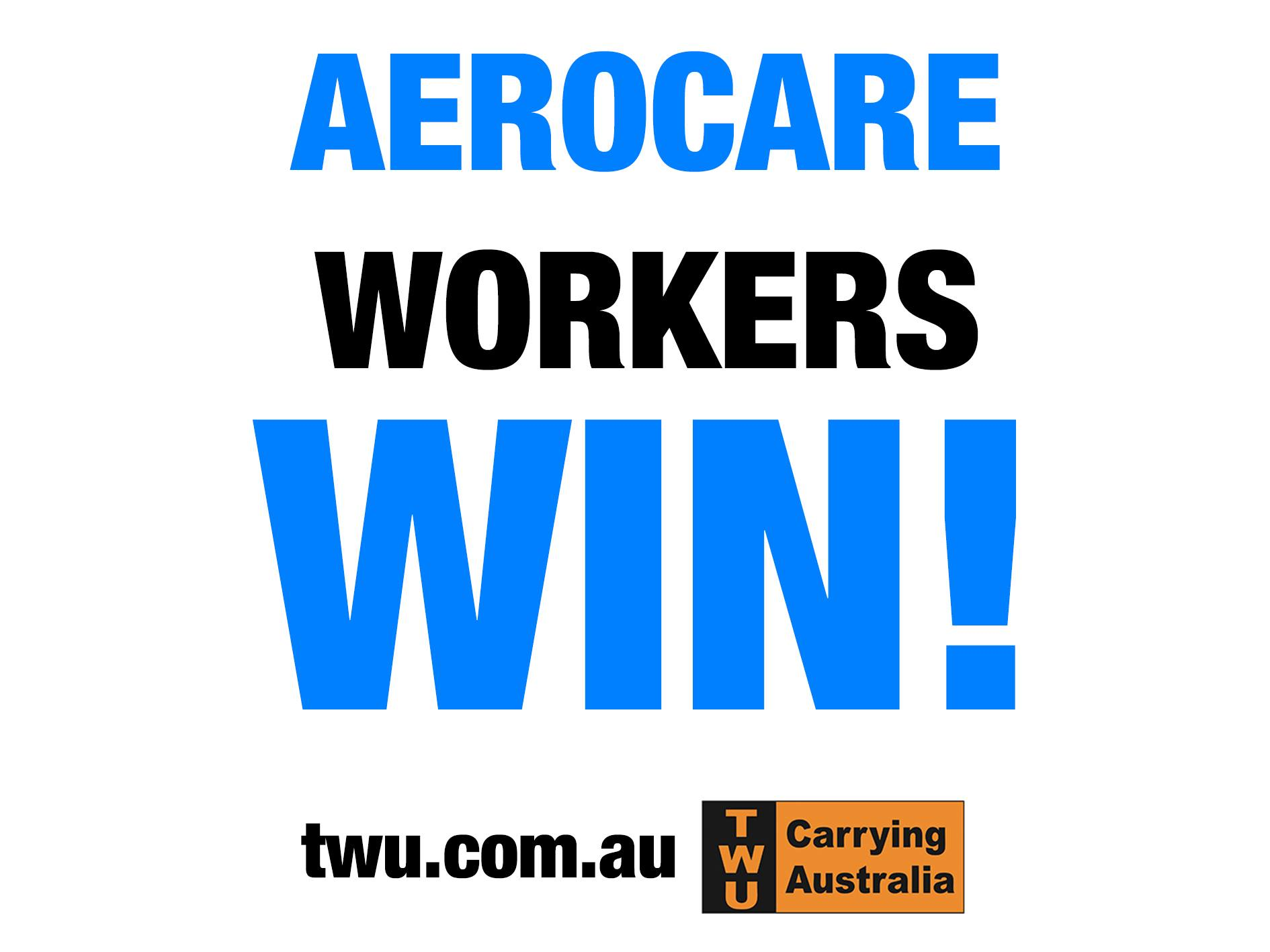 Twu Victas Dodgy Below Award Aerocare Agreement Rejected By Fair