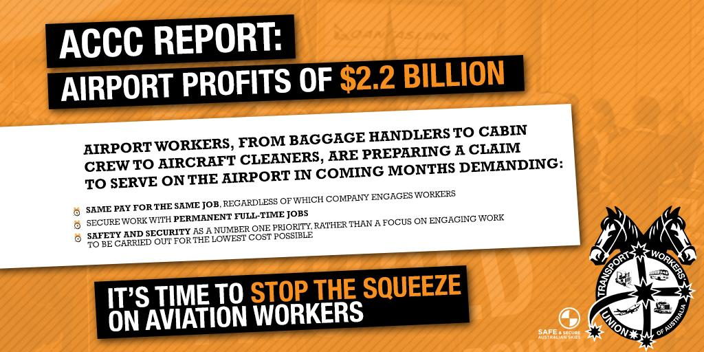 Twu Vic Tas Airports Must Ensure Better More Secure Jobs